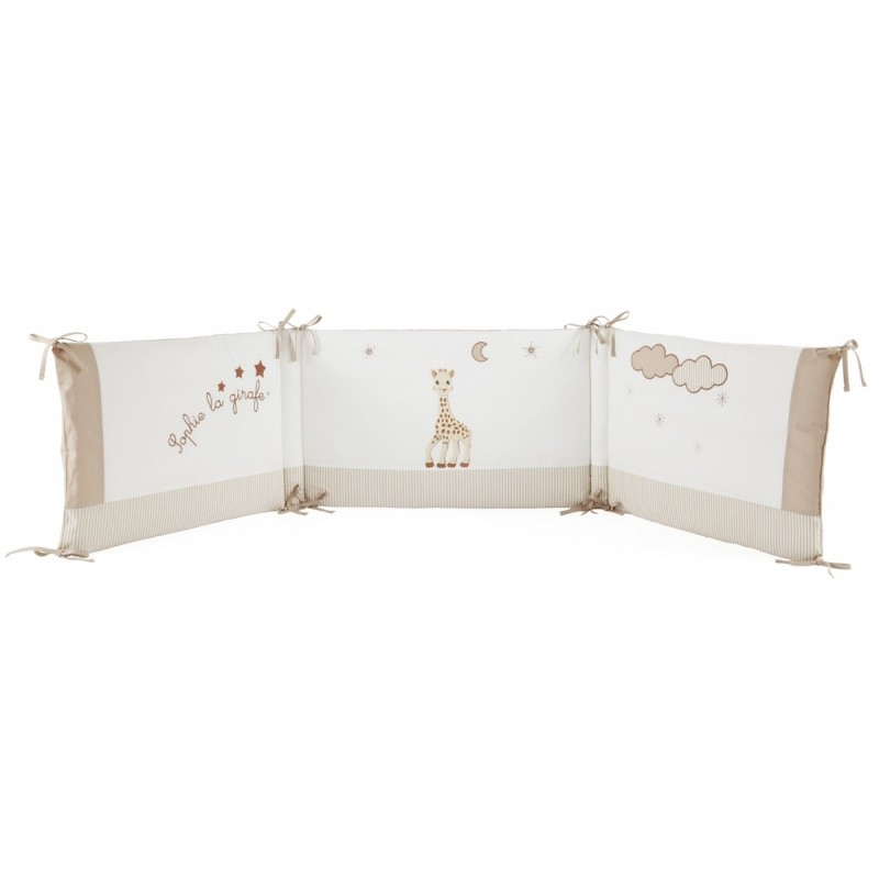 tour de lit sophie la girafe babycalin. Black Bedroom Furniture Sets. Home Design Ideas