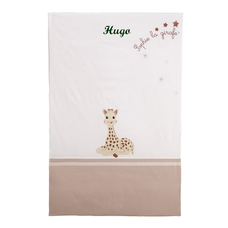 dessus de lit plaid sophie la girafe babycalin. Black Bedroom Furniture Sets. Home Design Ideas