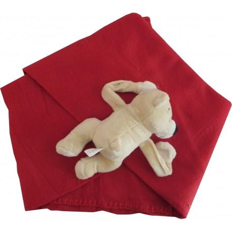 Nounours et son plaid rouge, Atelier Lambert