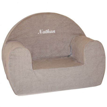 Fauteuil mousse club marron velours, Babycalin