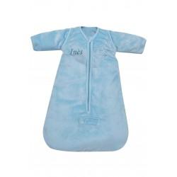 Gigoteuse naissance hiver microdoux bleu