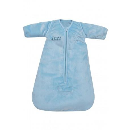 Gigoteuse naissance hiver microdoux bleu, Domiva