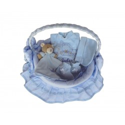 Panier osier bleu 4 pièces, Seven Diffusion