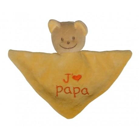 Mini Doudou triangle ours j'm papa
