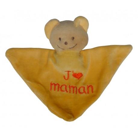 Mini Doudou triangle ours j'm maman