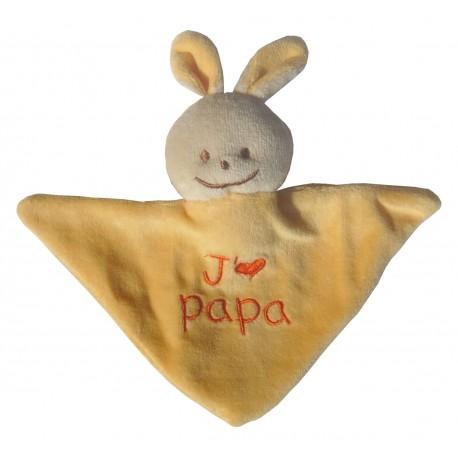 Mini Doudou triangle lapin j'm papa