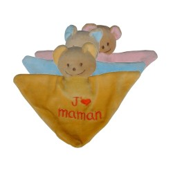 Mini Doudou triangle ours j'm maman
