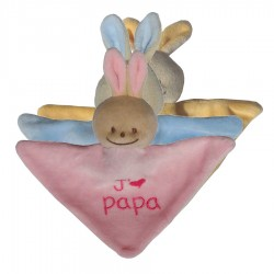 Mini Doudou triangle lapin j'm papa