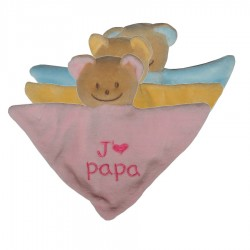 Mini Doudou triangle ours j'm papa