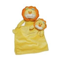 Set doudou et peluche lion jaune