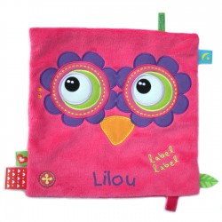 Doudou carré Friends Hibou fille