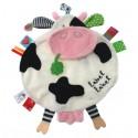 Doudou étiquettes Friends vache