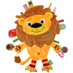 Doudou étiquettes Friends Lion