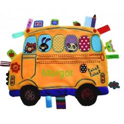 Doudou étiquettes School Bus