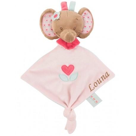 Mini doudou l'éléphant charlotte et rose, Nattou