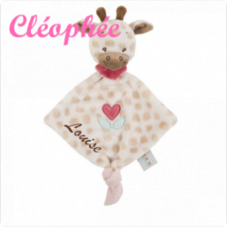 Personnalisez votre article :Mini doudou Charlotte la girafe