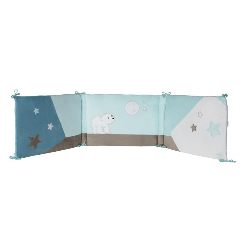 tour de lit flocon l 39 ourson domiva bebe star. Black Bedroom Furniture Sets. Home Design Ideas