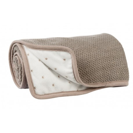 Couverture-plaid berceau tricot Noa, Tom et Max, Nattou : Bebe-star