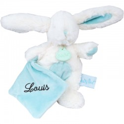 Pantin personnalisé thème Câlin - Lapin Bleu