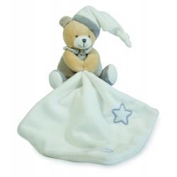 Doudou plat Les Luminescents ours beige étoile