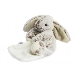 doudou Les Flocons peluche lapin gris