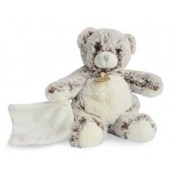 doudou Les Flocons peluche ours gris