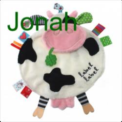 Personnalisez votre article :Doudou étiquettes Friends vache