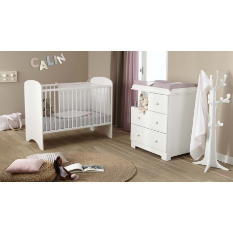 Chambre compl te bali blanc poyet motte bebe star for Mobilier chambre complete