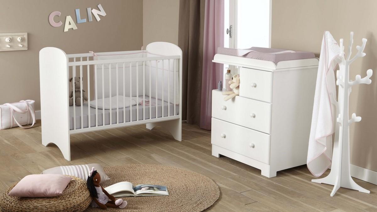 Chambre complète bali blanc, poyet motte : bebe star