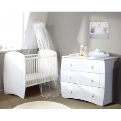 Chambre complète Ludo blanc, Poyet Motte : Bebe-Star