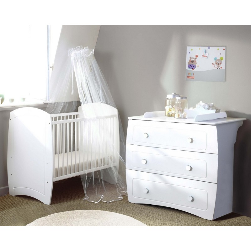 chambre compl te ludo blanc poyet motte bebe star. Black Bedroom Furniture Sets. Home Design Ideas