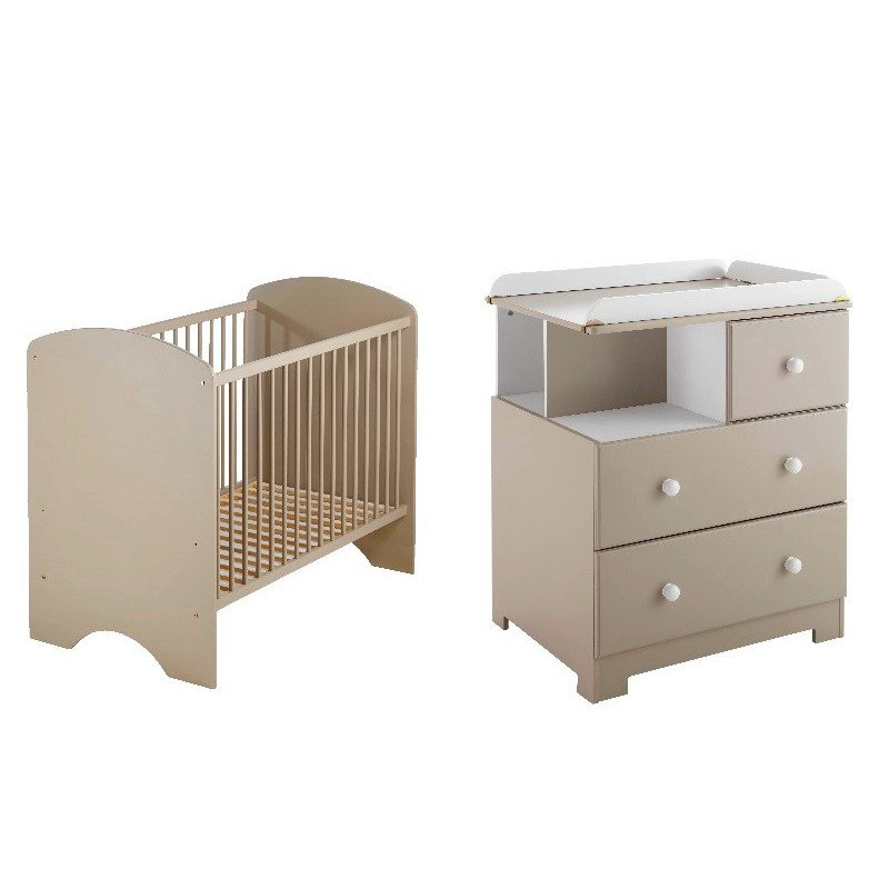 Chambre compl te bali taupe poyet motte bebe star for Chambre complete