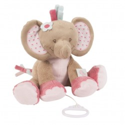 Peluche musicale Rose l'éléphant, Nattou : Bebe-star